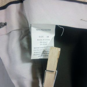 Pronto Uomo Pants - Pronto Uomo Men's Dark Olive Dress Pants 40x29.5 P